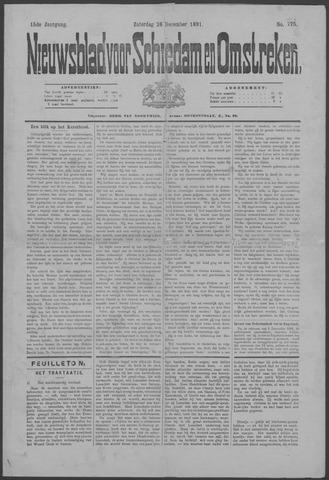 Nieuwsblad voor Schiedam en Omstreken 1891-12-26