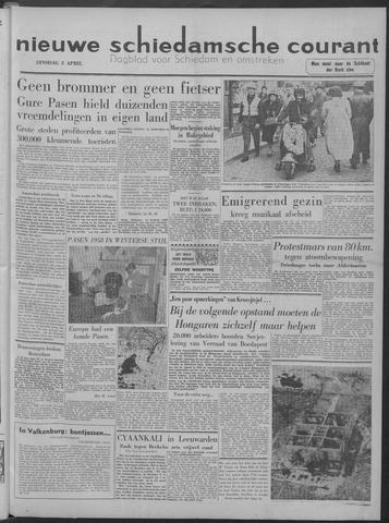 Nieuwe Schiedamsche Courant 1958-04-08