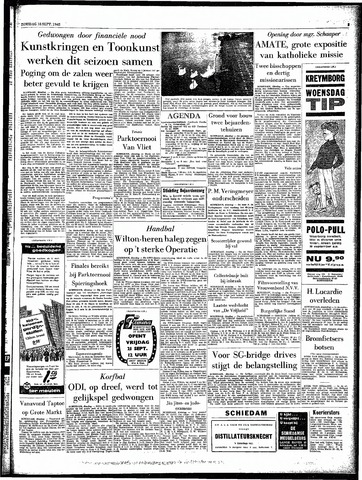 Rotterdamsch Parool / De Schiedammer 1962-09-18