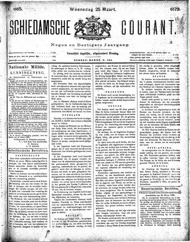 Schiedamsche Courant 1885-03-25