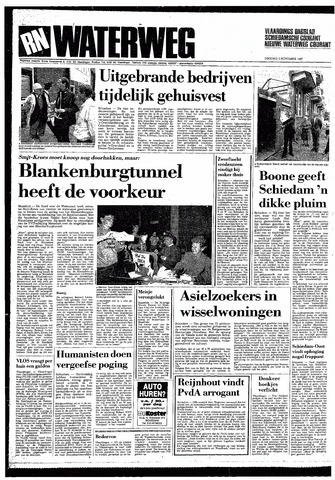 Rotterdamsch Nieuwsblad / Schiedamsche Courant / Rotterdams Dagblad / Waterweg / Algemeen Dagblad 1987-11-03
