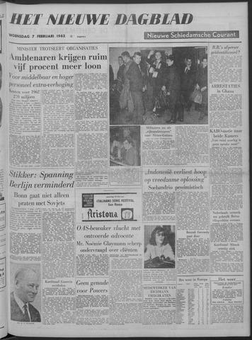 Nieuwe Schiedamsche Courant 1962-02-07
