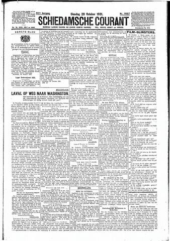 Schiedamsche Courant 1931-10-20