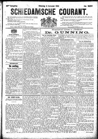 Schiedamsche Courant 1916-10-03