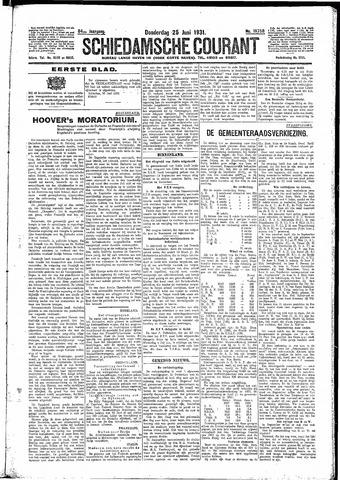 Schiedamsche Courant 1931-06-25