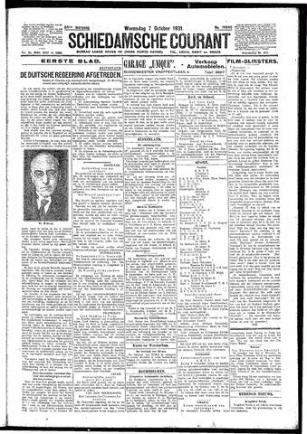 Schiedamsche Courant 1931-10-07