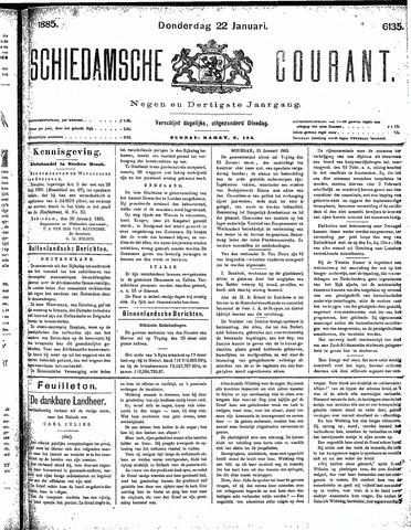Schiedamsche Courant 1885-01-22