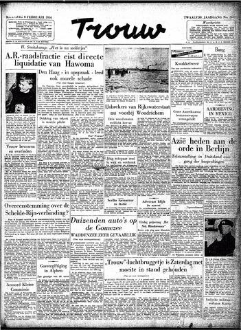 Trouw / De Rotterdammer 1954-02-08