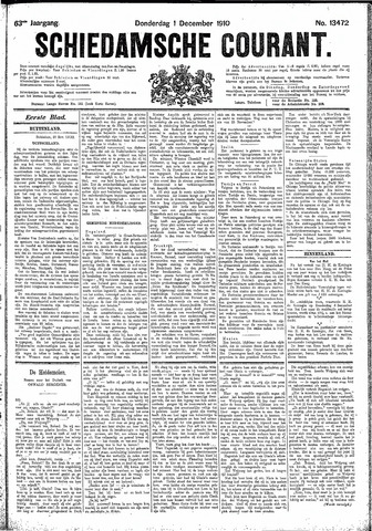 Schiedamsche Courant 1910-12-01
