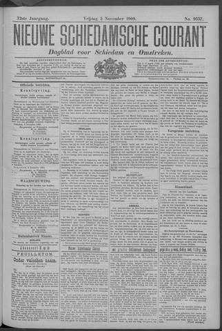 Nieuwe Schiedamsche Courant 1909-11-05