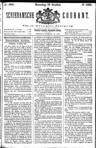 Schiedamsche Courant 1881-10-24