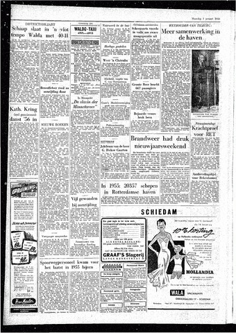Rotterdamsch Parool / De Schiedammer 1956