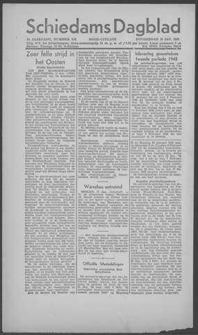 Schiedamsch Dagblad 1945-01-18