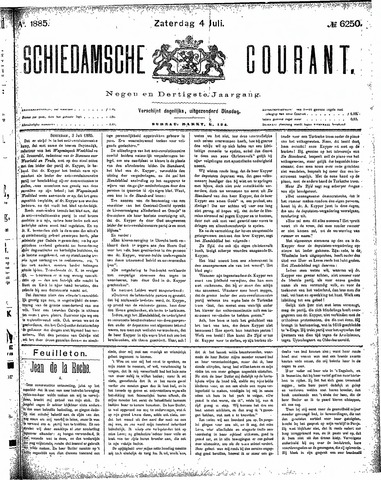 Schiedamsche Courant 1885-07-04