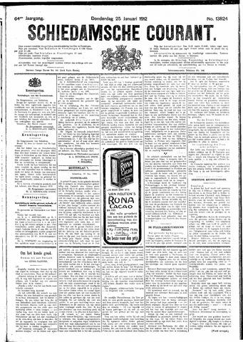Schiedamsche Courant 1912-01-25