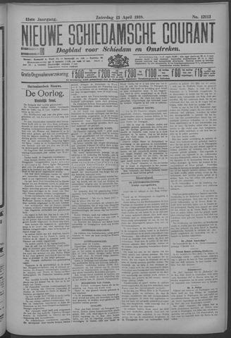 Nieuwe Schiedamsche Courant 1918-04-13