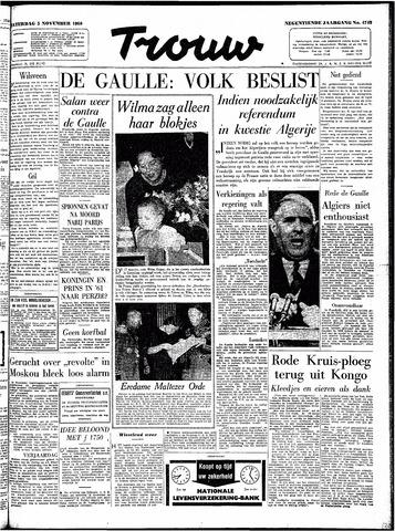 Trouw / De Rotterdammer 1960-11-05