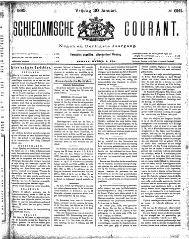 Schiedamsche Courant 1885-01-30