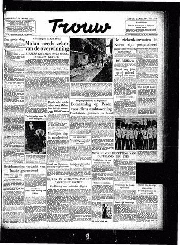 Trouw / De Rotterdammer 1953-04-16