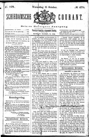 Schiedamsche Courant 1879-10-15