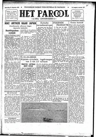 Rotterdamsch Parool / De Schiedammer 1945-08-29