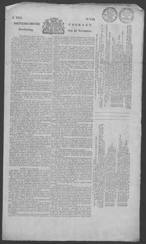 Rotterdamse Courant 1841-11-25