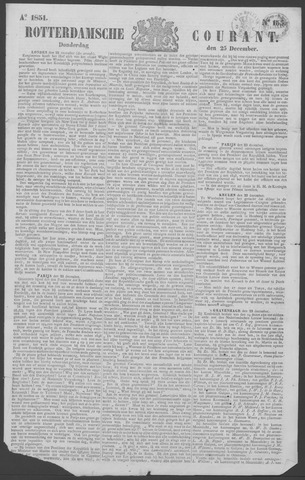 Rotterdamse Courant 1851-12-25