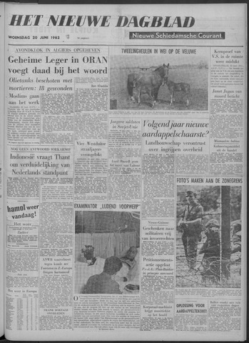Nieuwe Schiedamsche Courant 1962-06-20