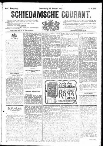 Schiedamsche Courant 1912-01-18