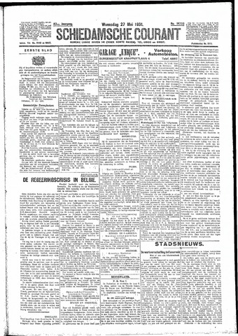 Schiedamsche Courant 1931-05-27