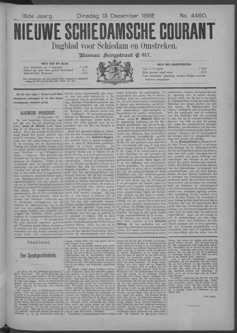 Nieuwe Schiedamsche Courant 1892-12-13