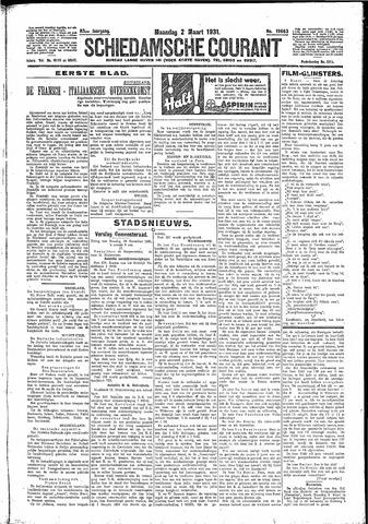 Schiedamsche Courant 1931-03-02