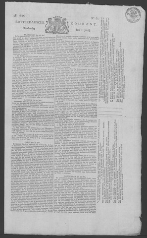 Rotterdamse Courant 1826-06-01