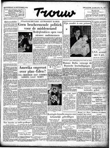 Trouw / De Rotterdammer 1954-09-16