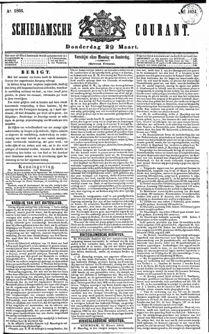 Schiedamsche Courant 1866-03-29