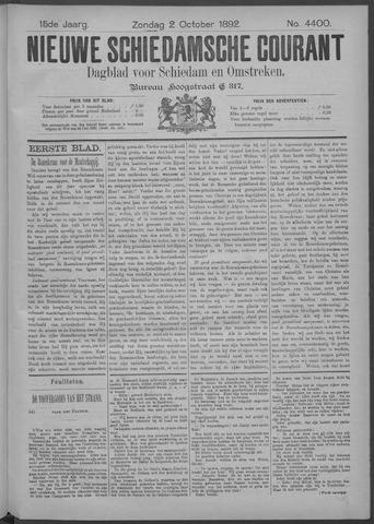 Nieuwe Schiedamsche Courant 1892-10-02