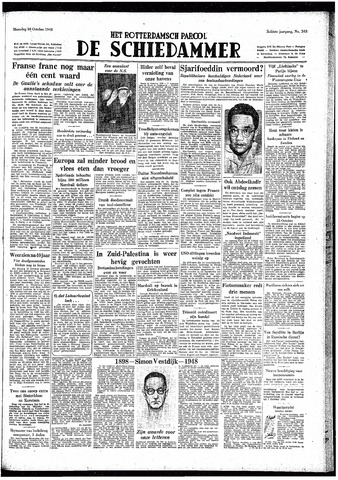 Rotterdamsch Parool / De Schiedammer 1948-10-18