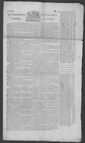 Rotterdamse Courant 1815-06-22