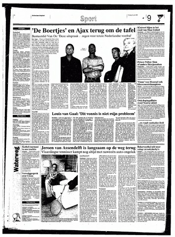Rotterdamsch Nieuwsblad / Schiedamsche Courant / Rotterdams Dagblad / Waterweg / Algemeen Dagblad 1998-07-31