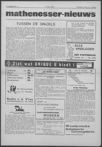 Mathenesser Nieuws 1963-11-29