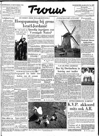 Trouw / De Rotterdammer 1956-09-27