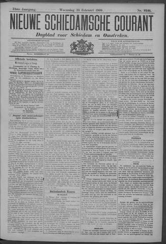 Nieuwe Schiedamsche Courant 1909-02-24