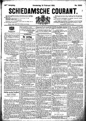 Schiedamsche Courant 1916-02-10