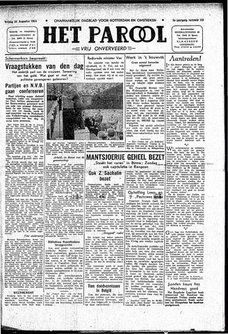 Rotterdamsch Parool / De Schiedammer 1945-08-24