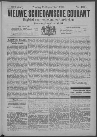 Nieuwe Schiedamsche Courant 1892-09-18