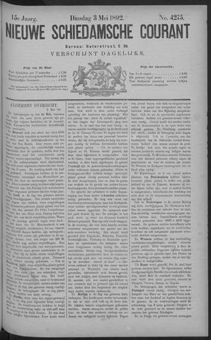 Nieuwe Schiedamsche Courant 1892-05-03
