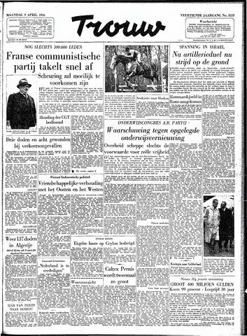 Trouw / De Rotterdammer 1956-04-09