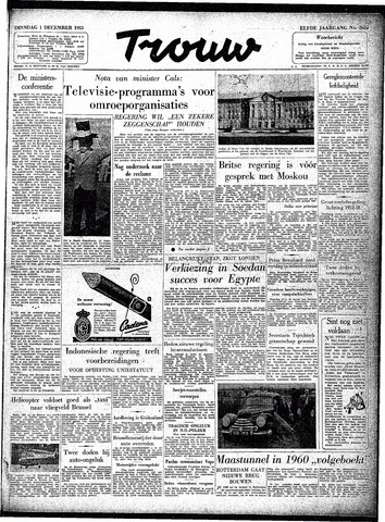 Trouw / De Rotterdammer 1953-12-01