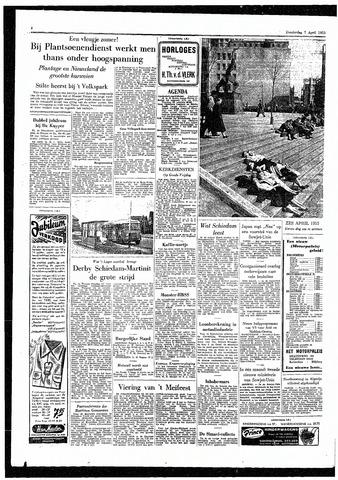 Rotterdamsch Parool / De Schiedammer 1955-04-07