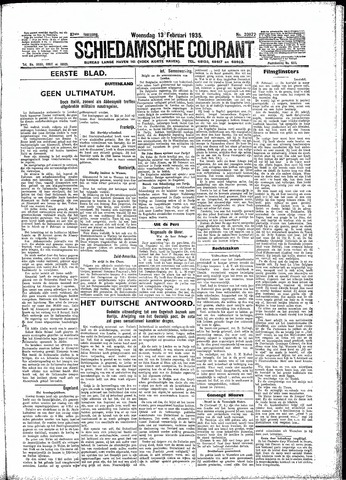 Schiedamsche Courant 1935-02-13